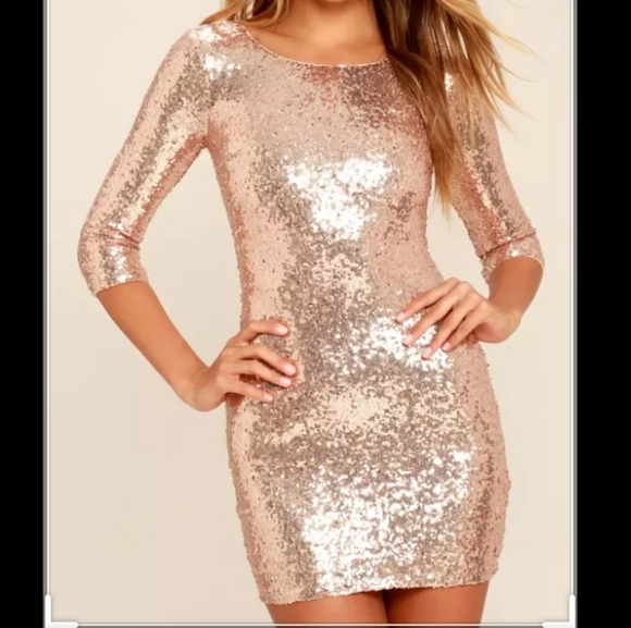 ❄ WINTER SALE: Rose Gold Sequin Dress